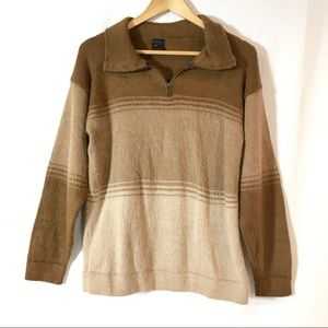 Mariatex Peru Alpaca Knit 1/4 Zip Popover Sweater
